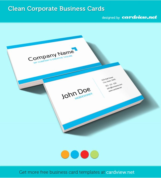 Business Card Template Ppt Fresh Free Corporate Business Card Psd Template