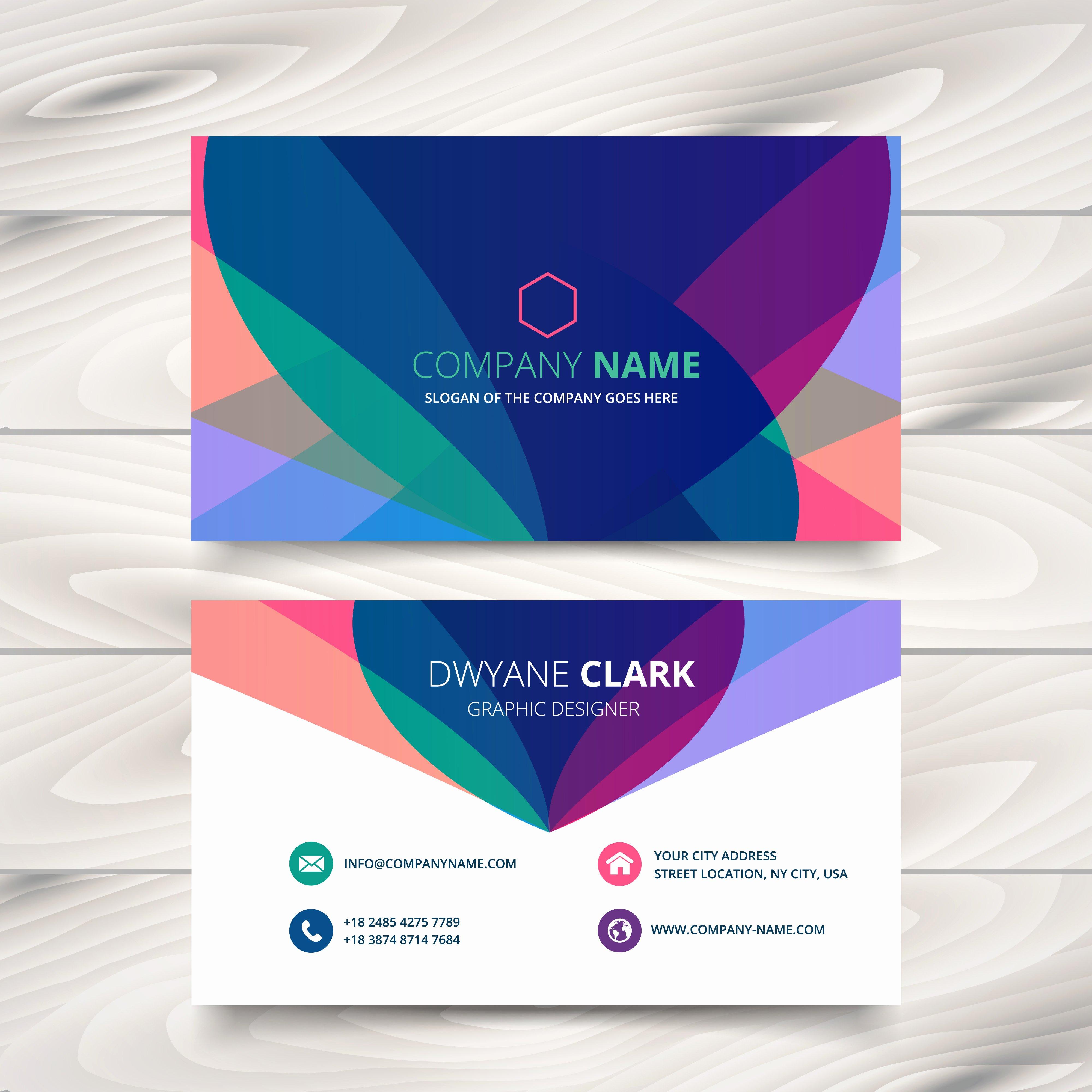 Business Card Template Ppt Fresh Modern Colorful Business Card Template Presentation Design