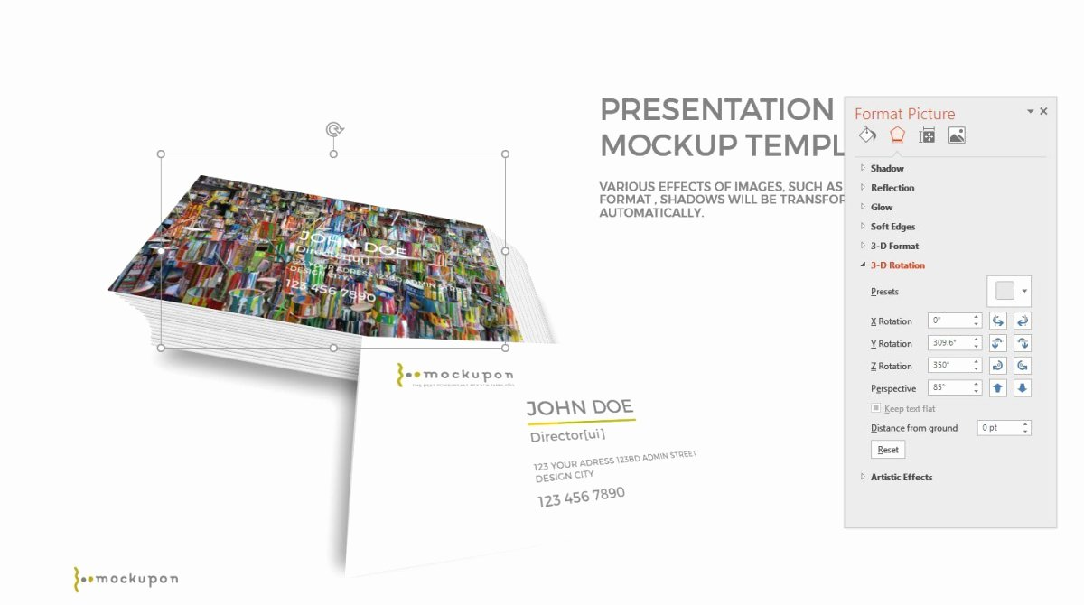realistic business card mockup presentation templates