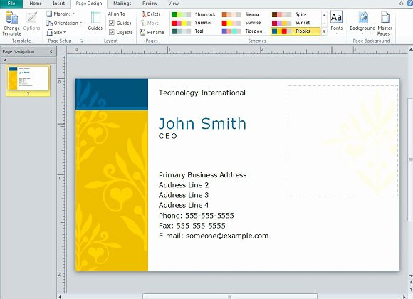 Business Card Template Ppt Lovely Creating Business Cards In Microsoft Publisher