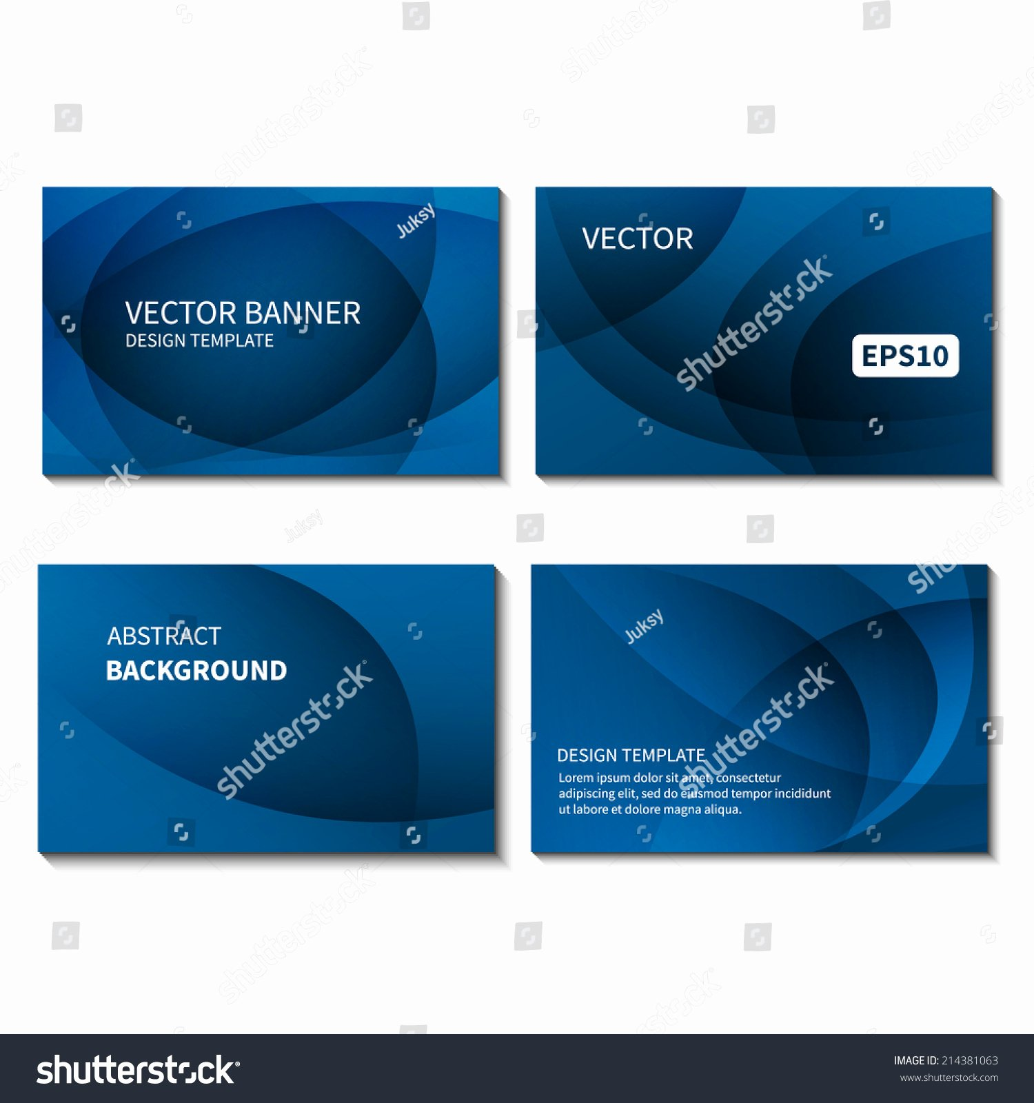 Business Card Template Vector Awesome Set Four Business Cards Design Template Stock Vector
