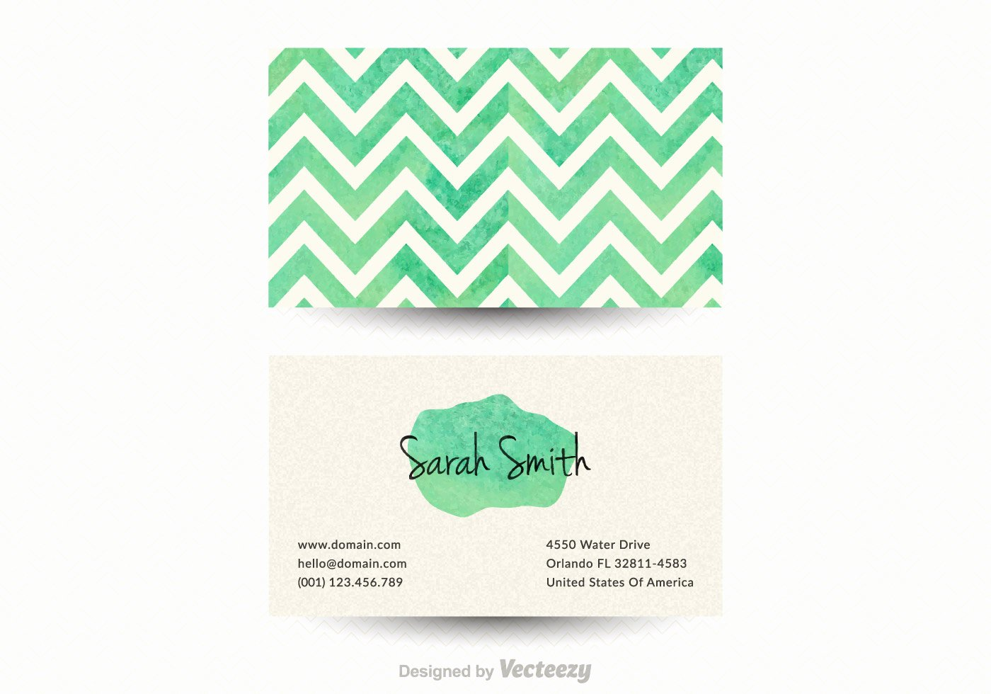 Business Card Template Vector Beautiful Free Chevron Business Card Vector Template Download Free