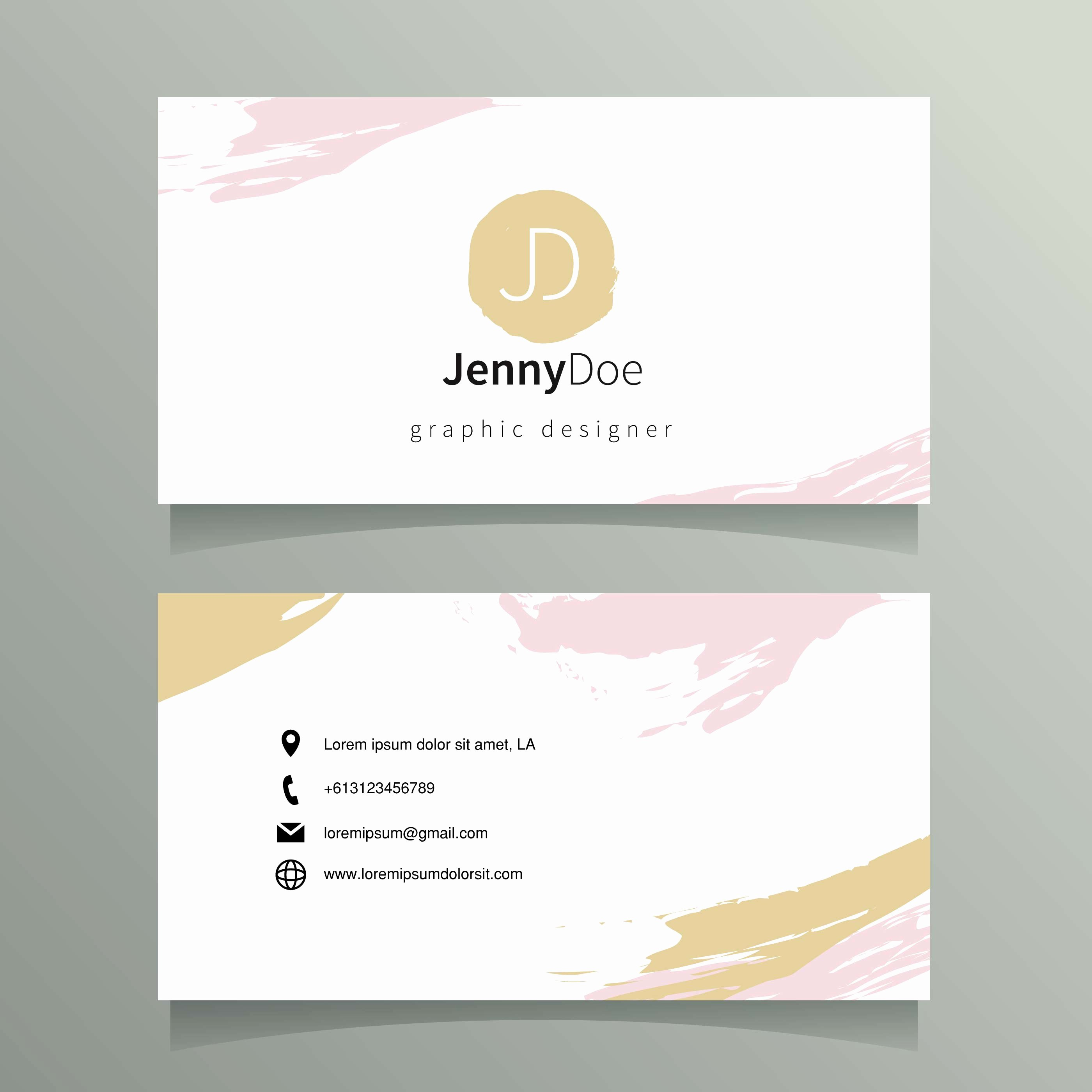 Business Card Template Vector Beautiful Graphic Designer Name Card Template Download Free Vector