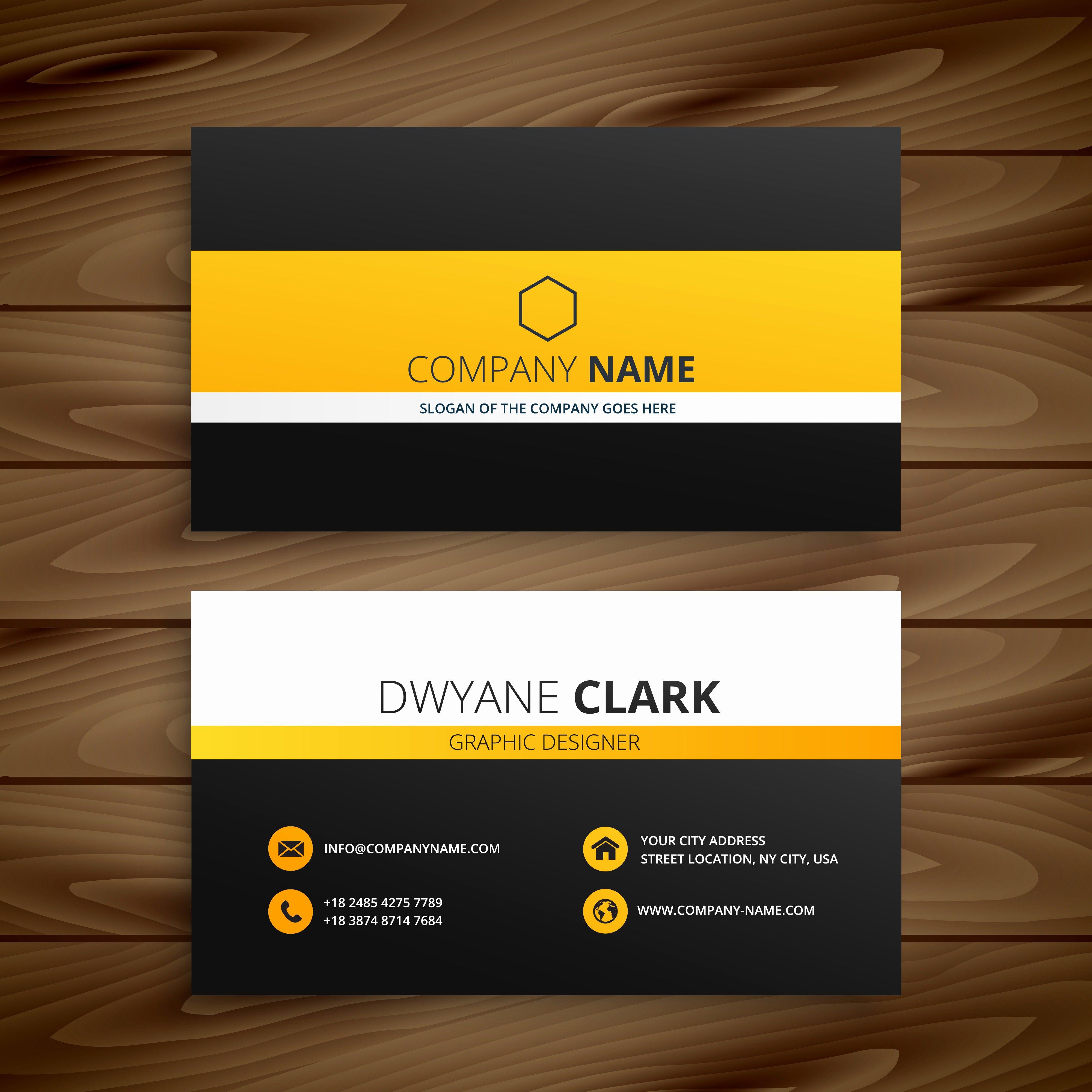 Business Card Template Vector Beautiful Modern Business Card Template Template Vector Design