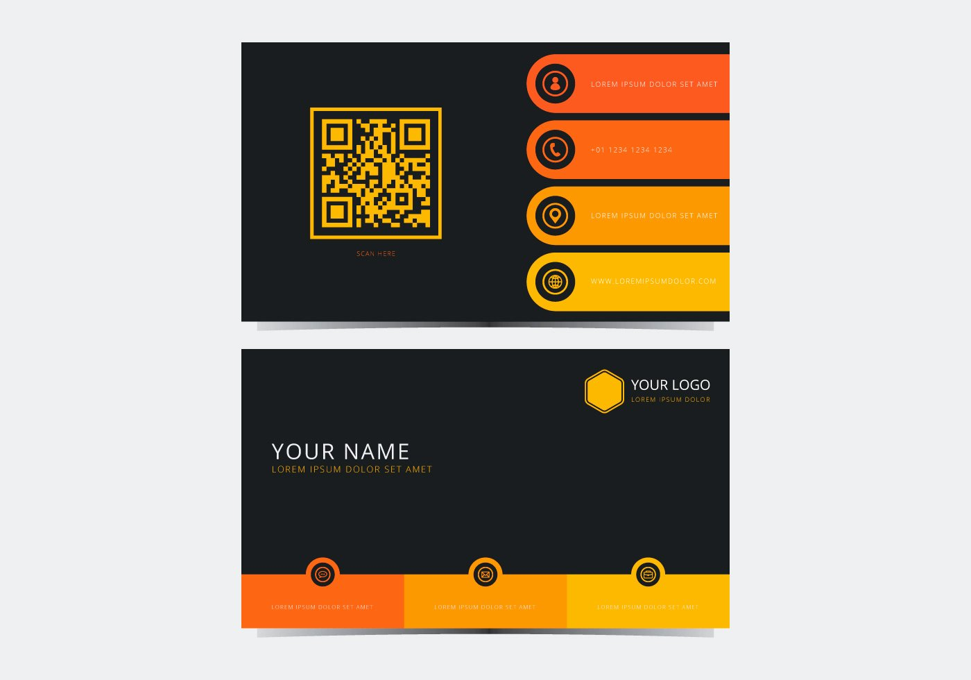 Business Card Template Vector Best Of Yellow Stylish Business Card Template Download Free