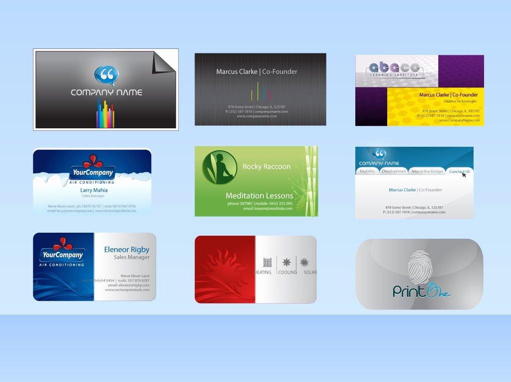 Business Card Template Vector Elegant Vector Business Card Templates Vector Art & Graphics