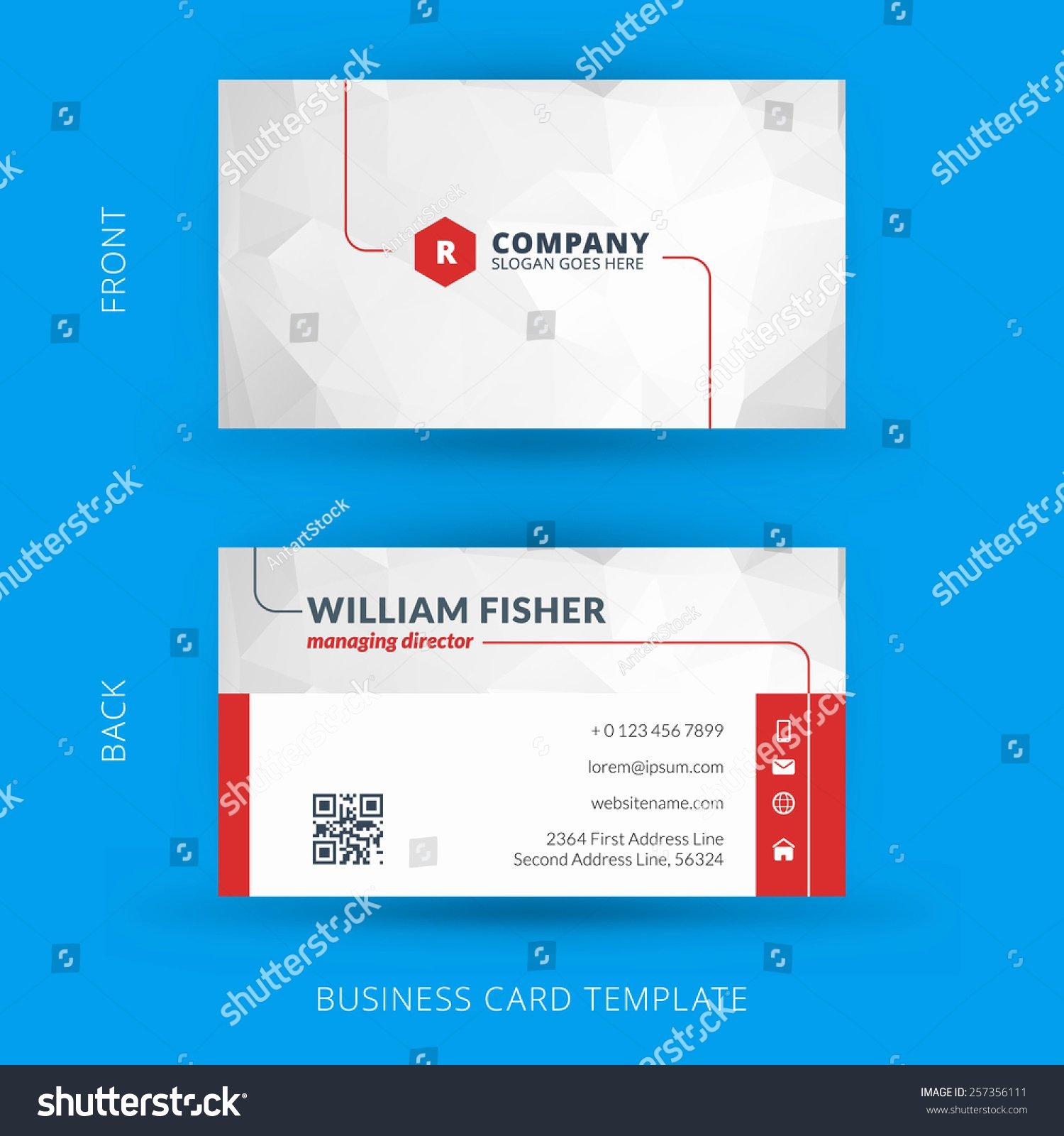 Business Card Template Vector Elegant Vector Modern Creative Clean Business Card Stock Vector