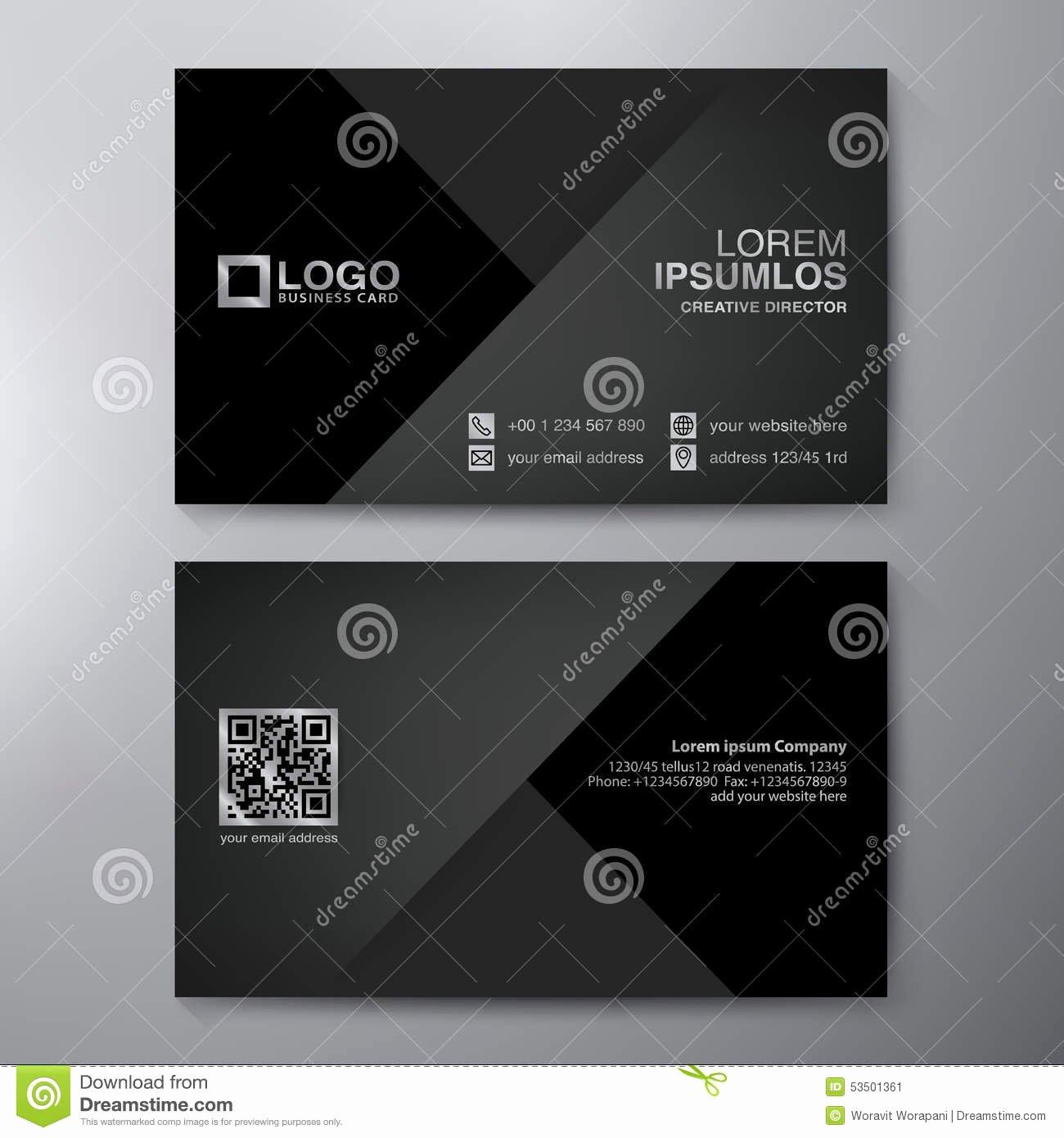 Business Card Template Vector Fresh Modern Business Card Design Template Stock Vector Image