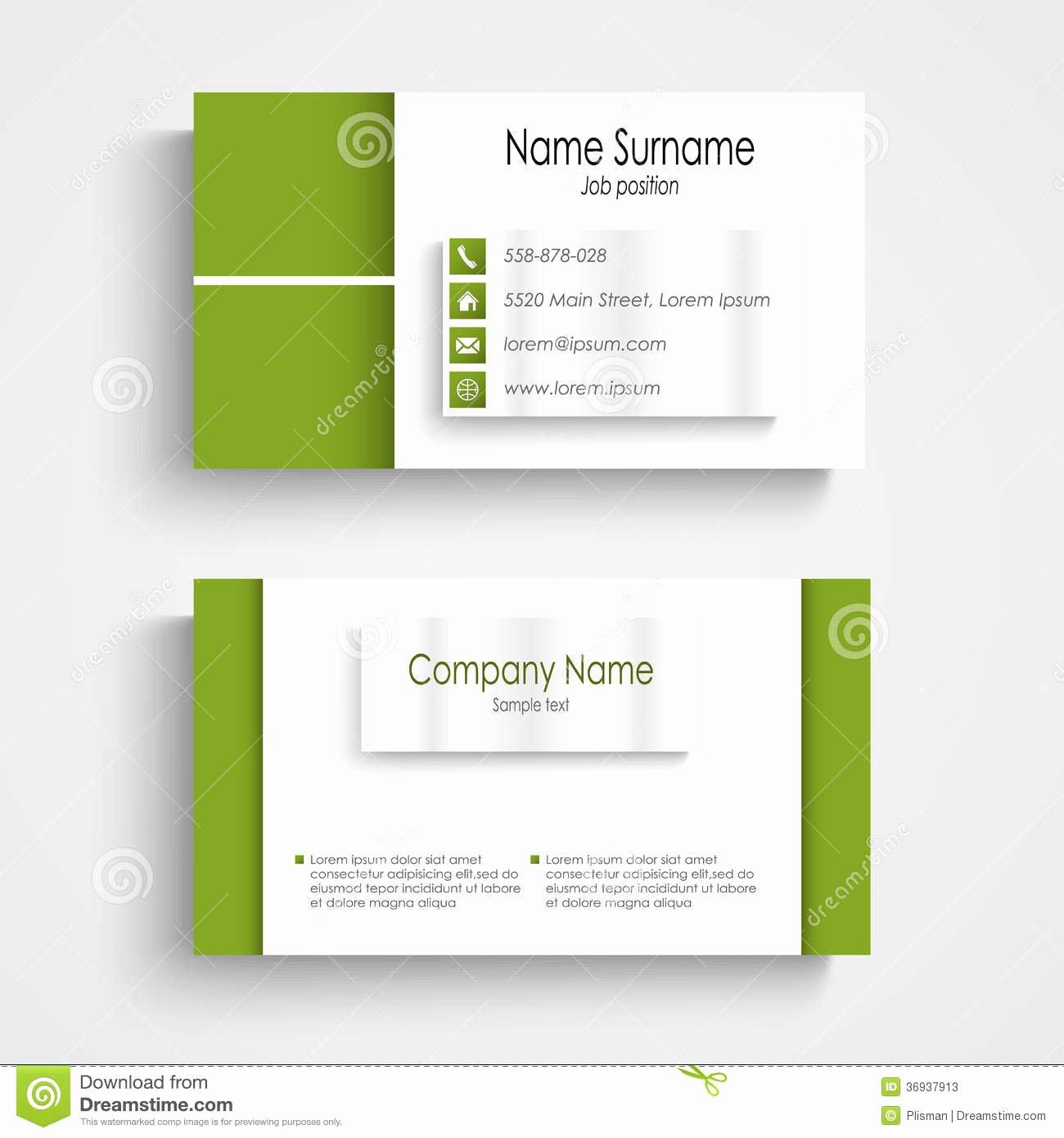 Business Card Template Vector Fresh Modern Green Light Business Card Template Stock S