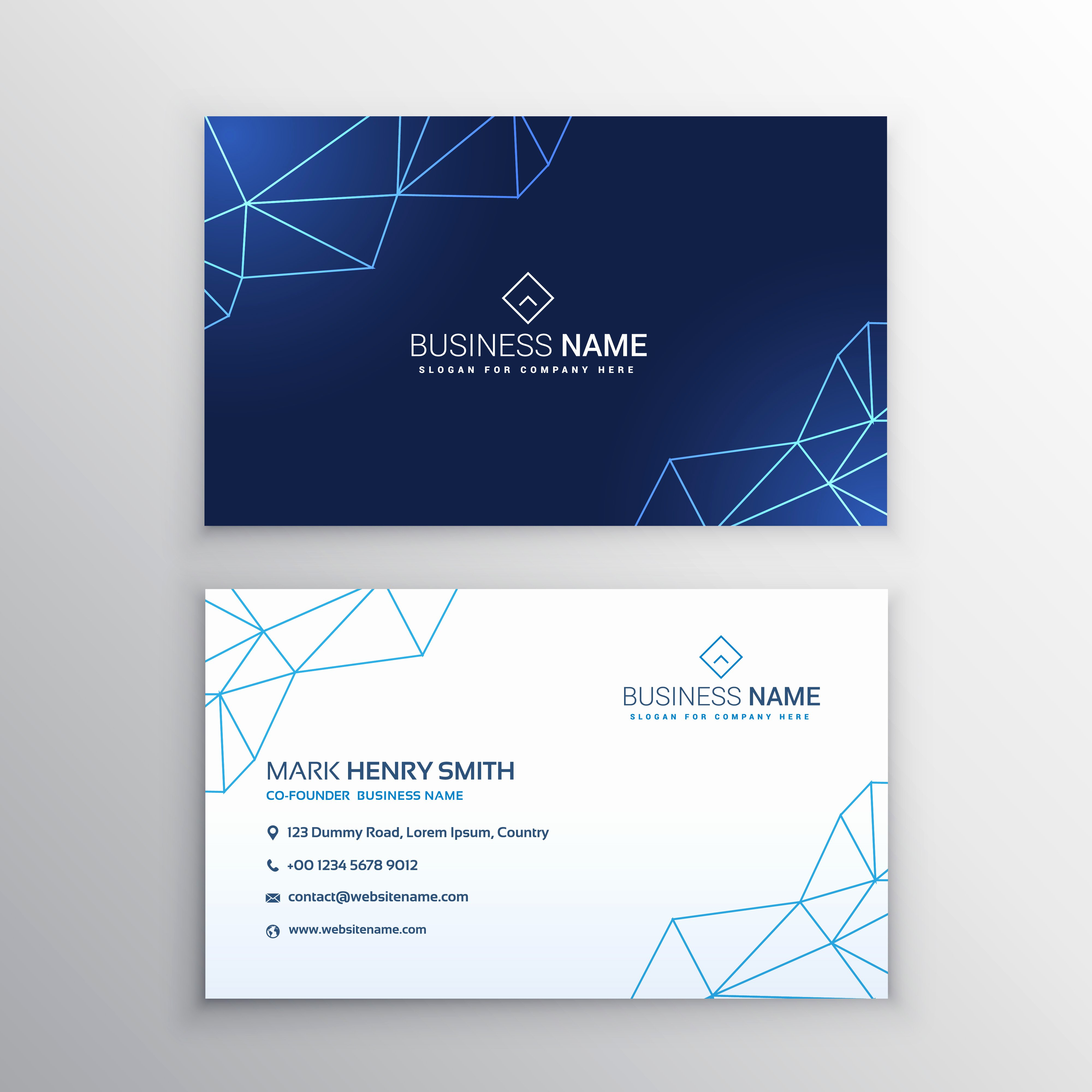 Business Card Template Vector Fresh Technology Business Card Design Template Download Free
