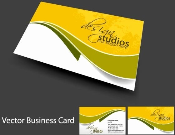 Business Card Template Vector Inspirational Visiting Card Design Sample In Coreldraw
