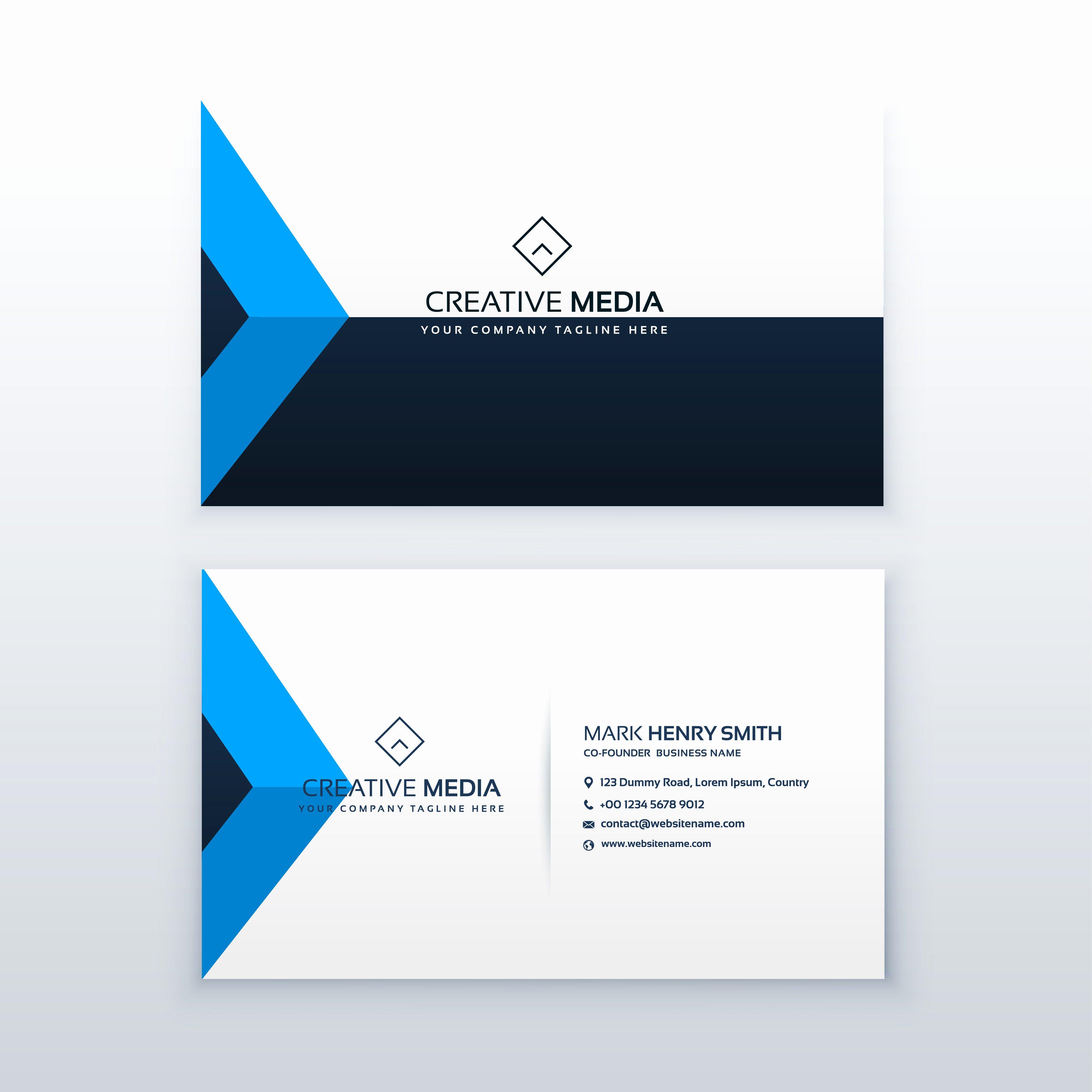 Business Card Template Vector Lovely Modern Clean Business Card Vector Design Template