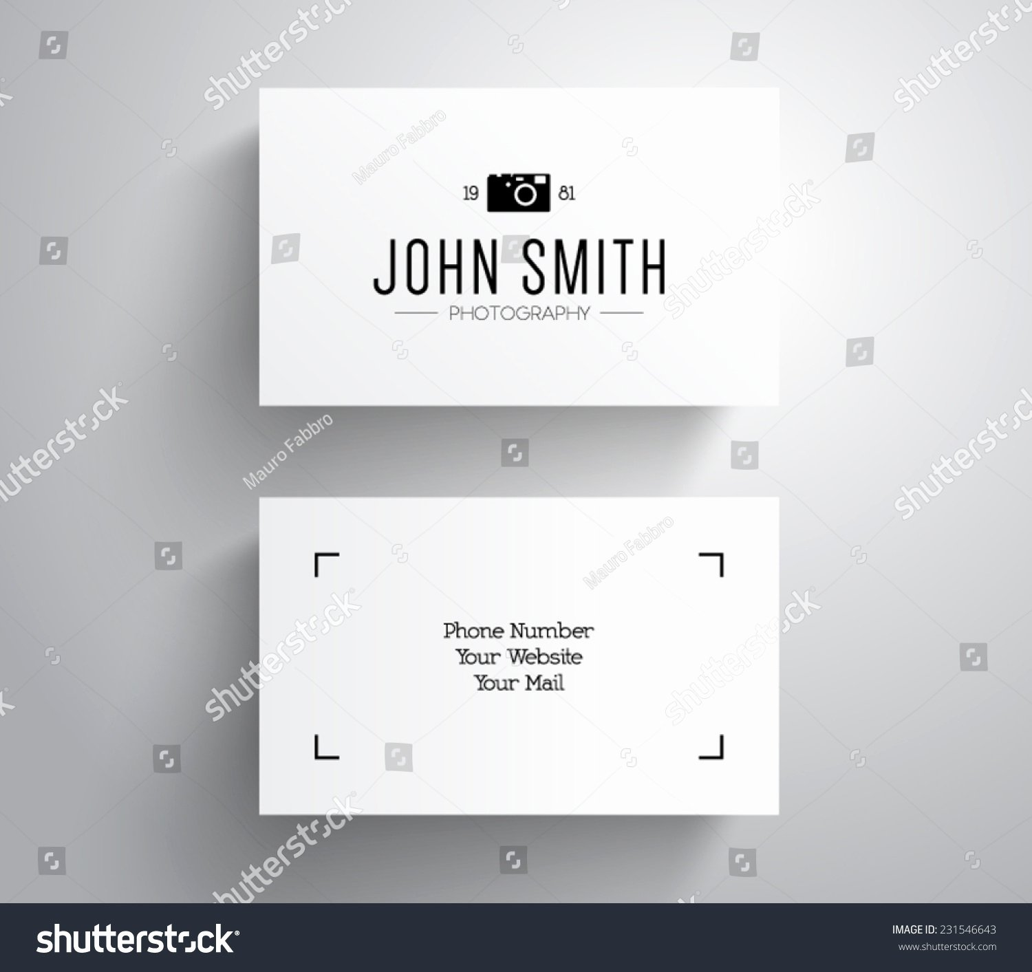 Business Card Template Vector Lovely Vector Grapher Graphy Business Card Template
