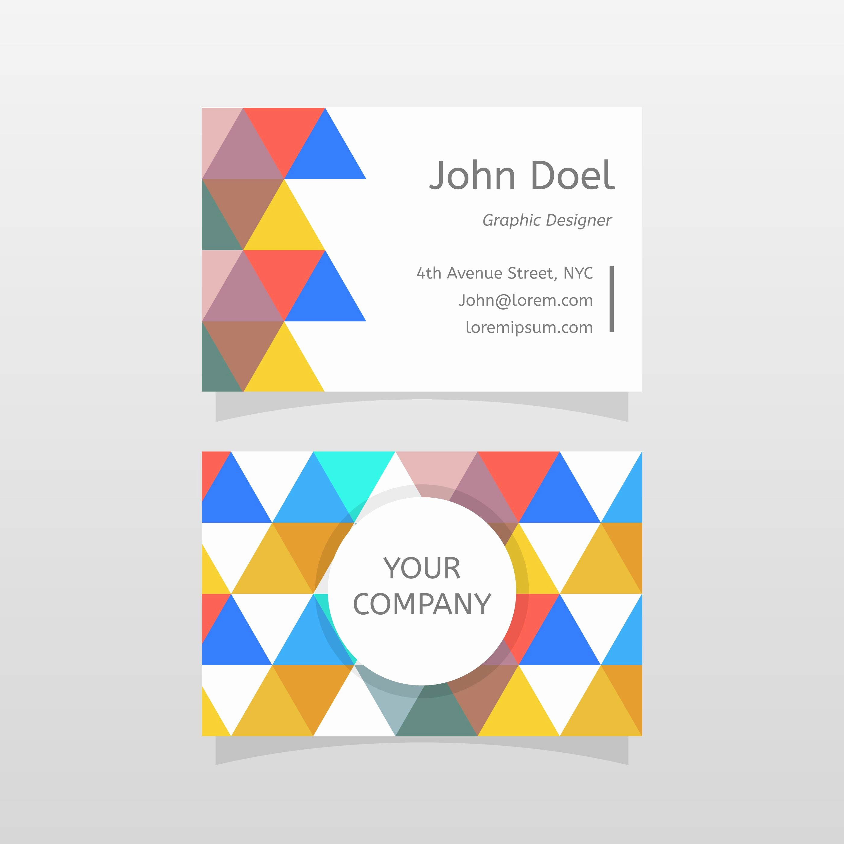 Business Card Template Vector New Flat Abstract Graphic Designer Business Card Vector