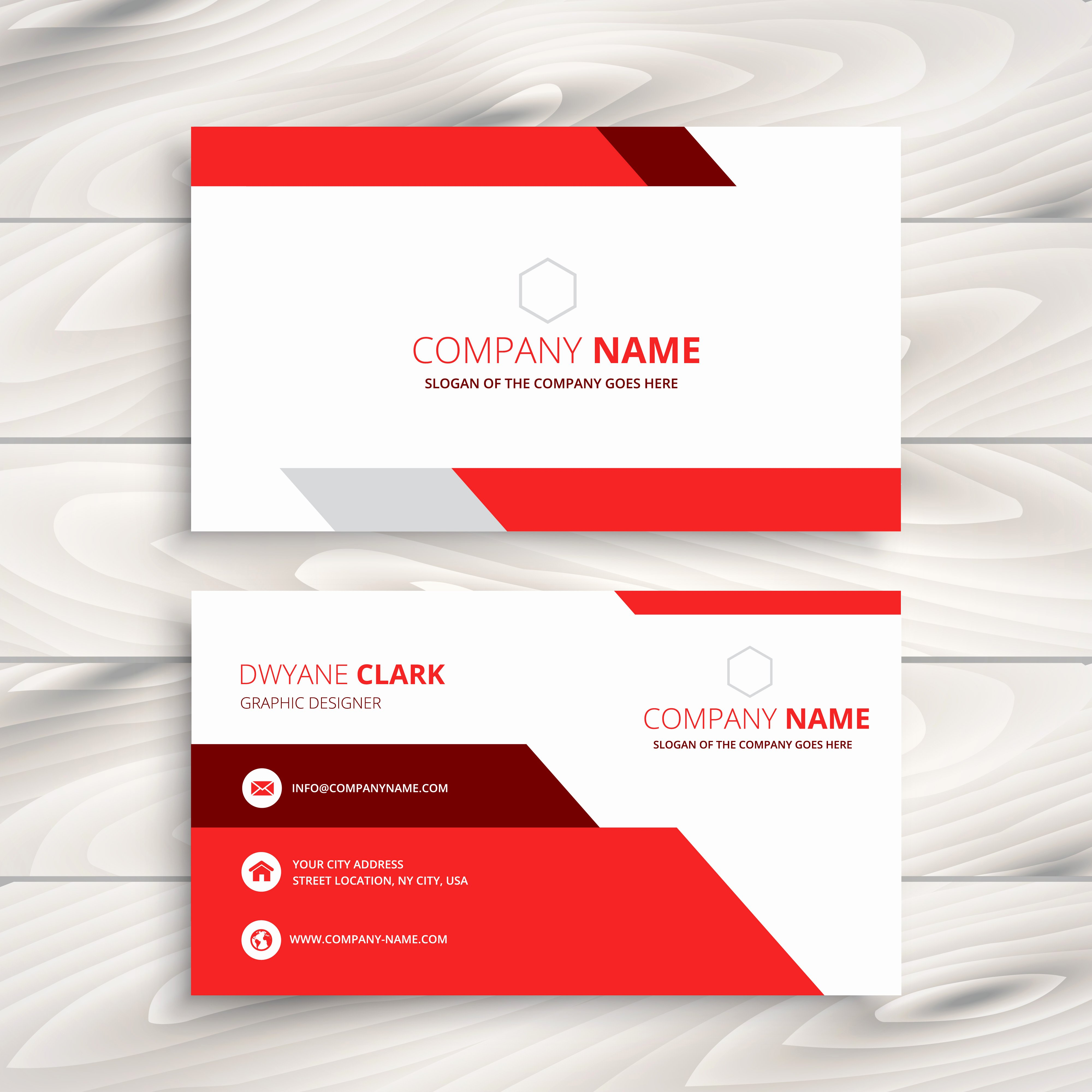 Business Card Template Vector New Red Modern Business Card Template Vector Design