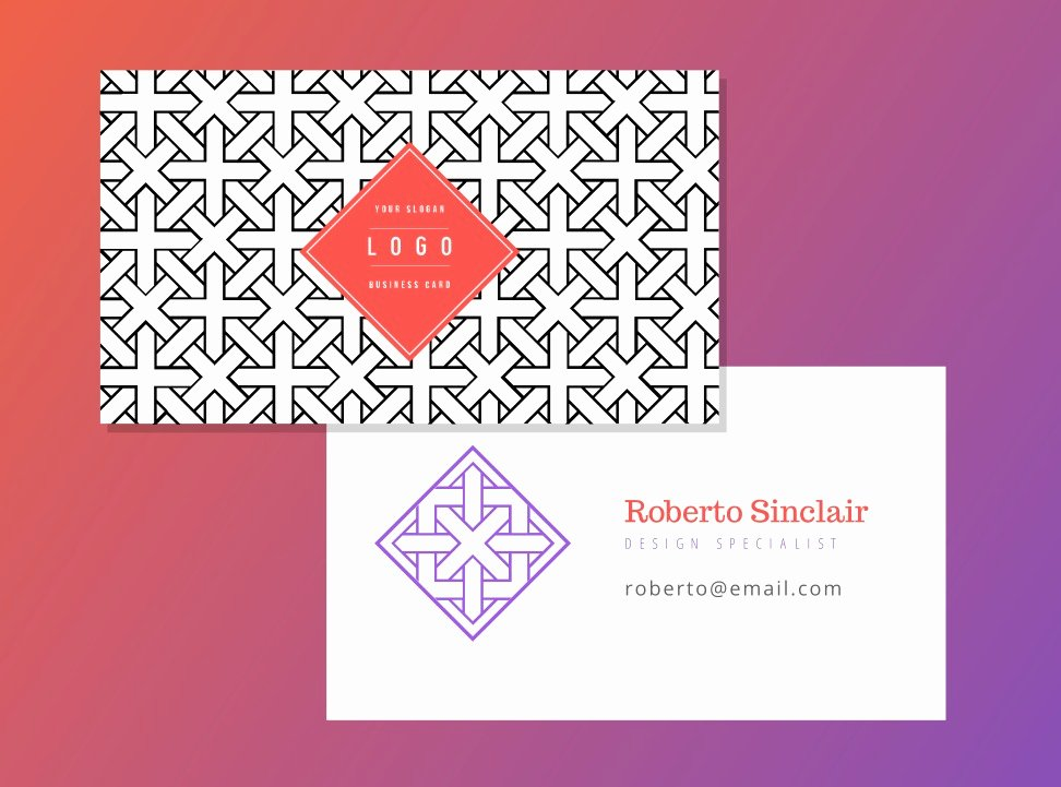Business Card Template Vector Unique Free Geometric Business Card Vector Template Download