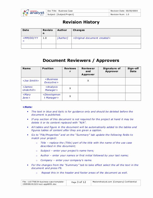 Business Case Analysis Template Awesome Business Case Template