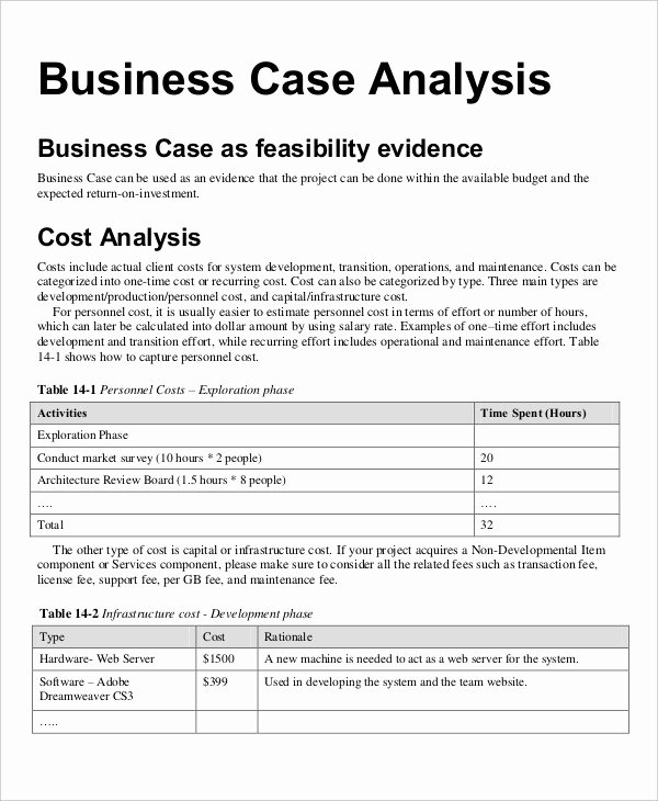 Business Case Analysis Template Inspirational 30 Financial Analysis Examples & Samples Pdf Word Pages