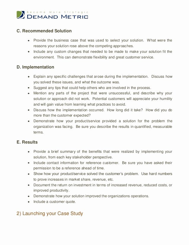 Business Case Analysis Template Inspirational Case Study Template
