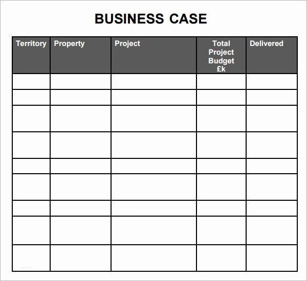 Business Case Template Excel Best Of 7 Business Case Samples