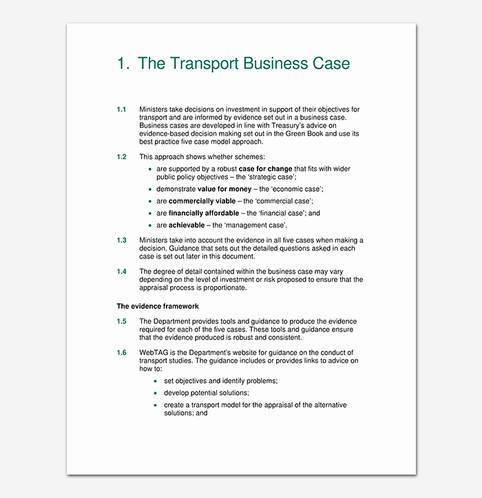 Business Case Template Excel Fresh Business Case Template 9 Simple formats for Word