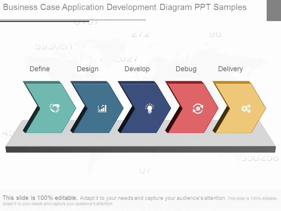 Business Case Template Ppt Awesome Business Case Application Development Diagram Ppt Samples