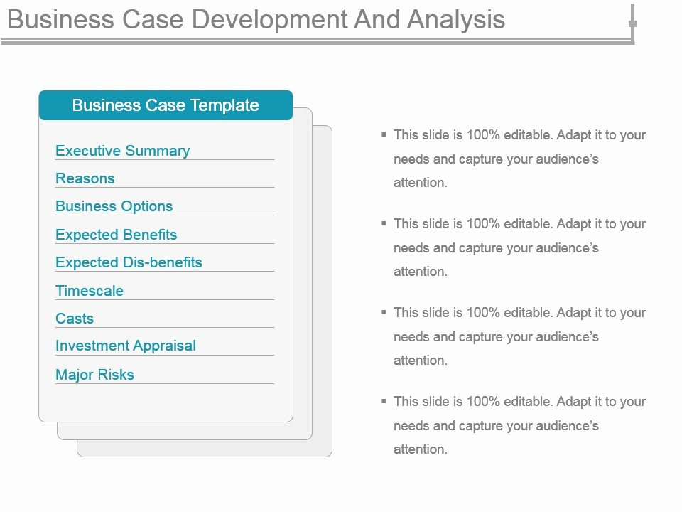 Business Case Template Ppt Inspirational Business Case Development and Analysis Powerpoint