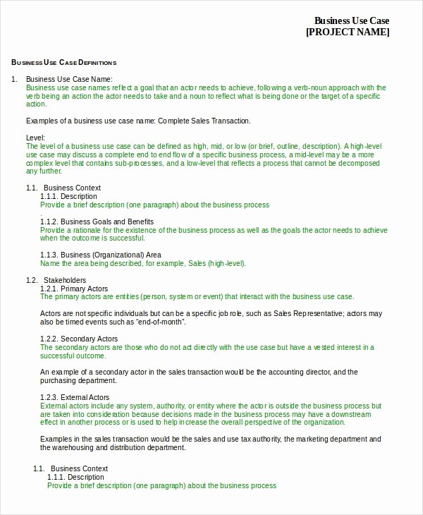 Business Case Template Word Fresh Case Template 9 Free Word Pdf Documents Download