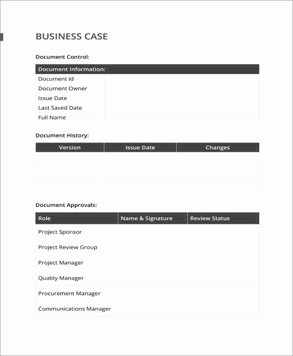 Business Case Template Word Inspirational 13 Business Case Templates Pdf Doc