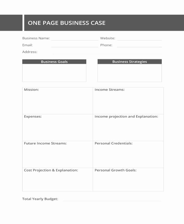 Business Case Template Word Lovely 13 Business Case Templates Pdf Doc