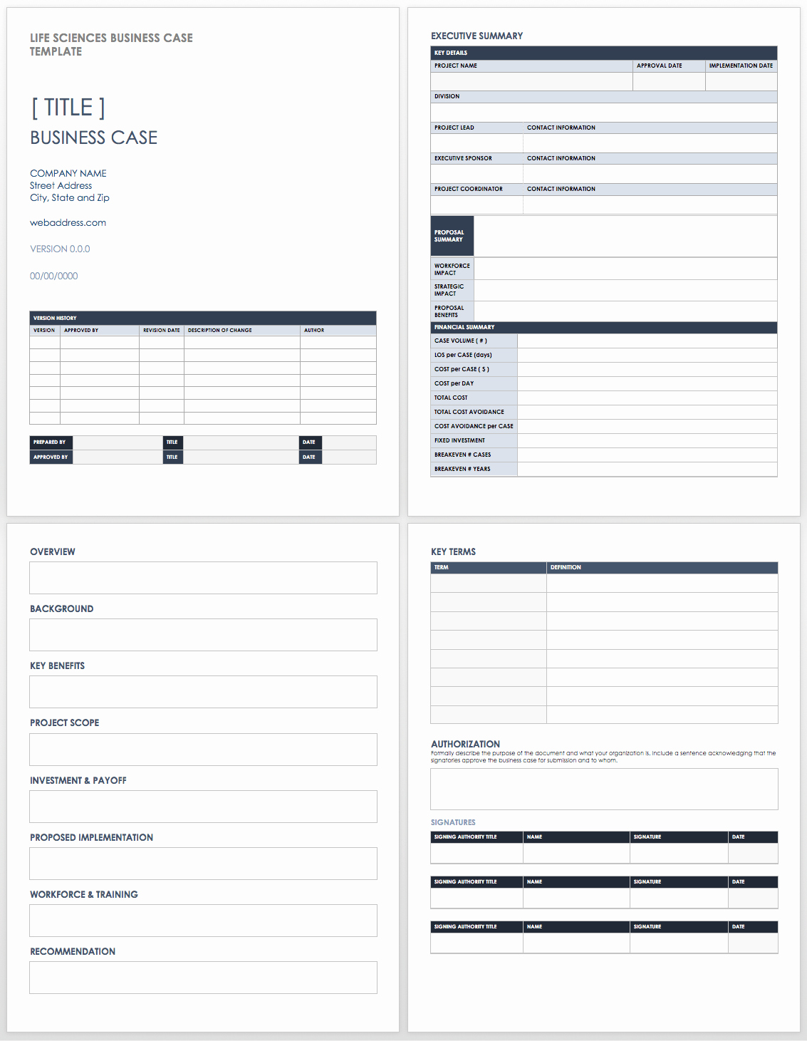 Business Case Template Word Luxury Free Business Case Templates