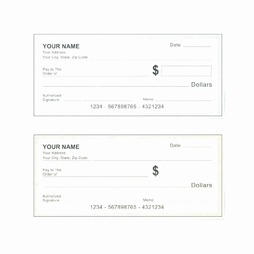 Business Check Template Excel Beautiful Editable Blank Check Template Free Cheque Template