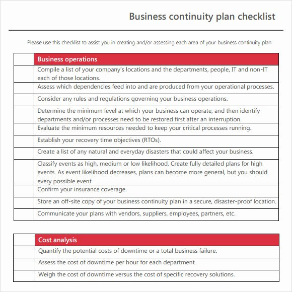 Business Contingency Plan Template Best Of Business Continuity Plan Sample for Manufacturing