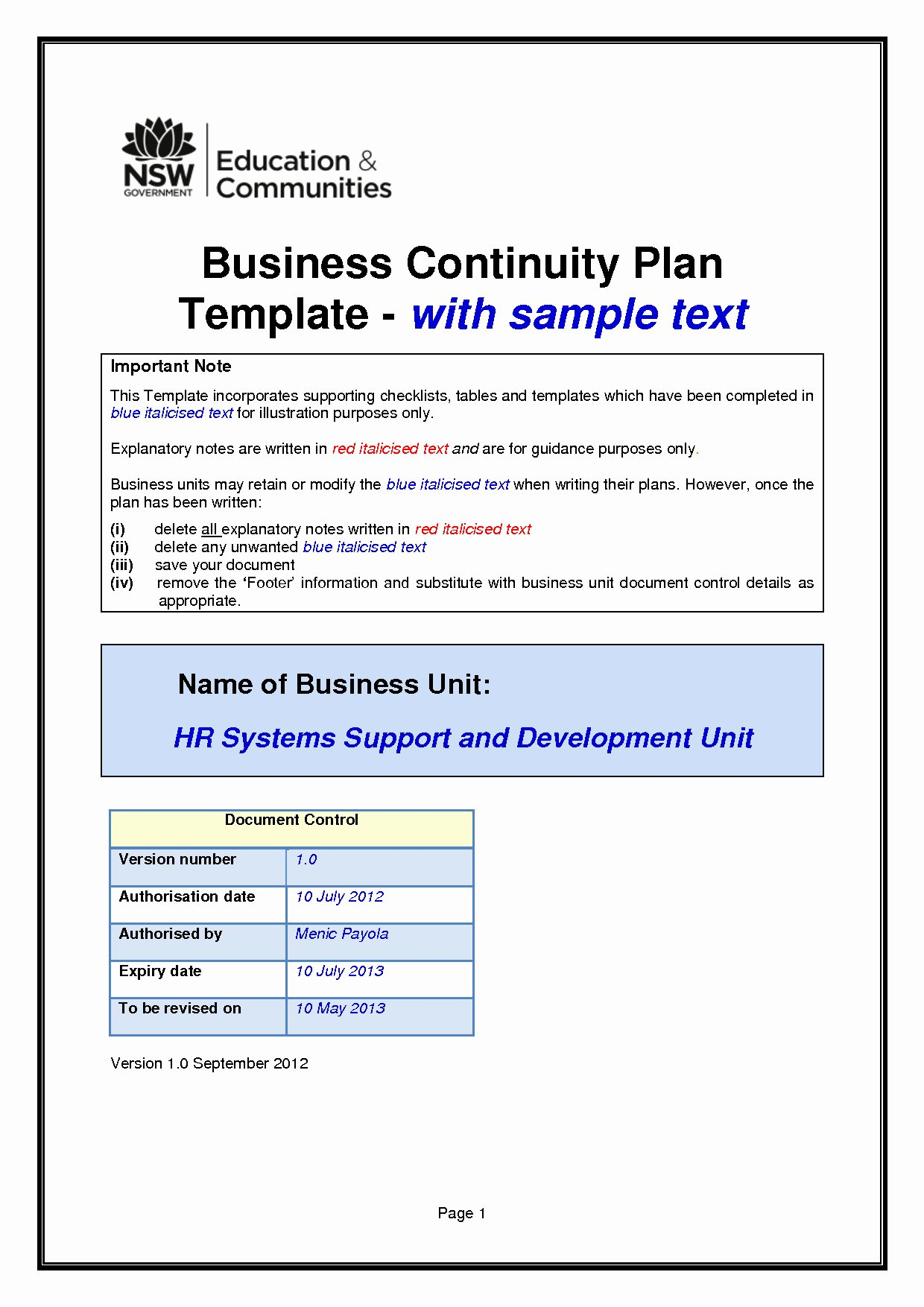 Business Contingency Plan Template Elegant Business Continuity Plan Template Small Business
