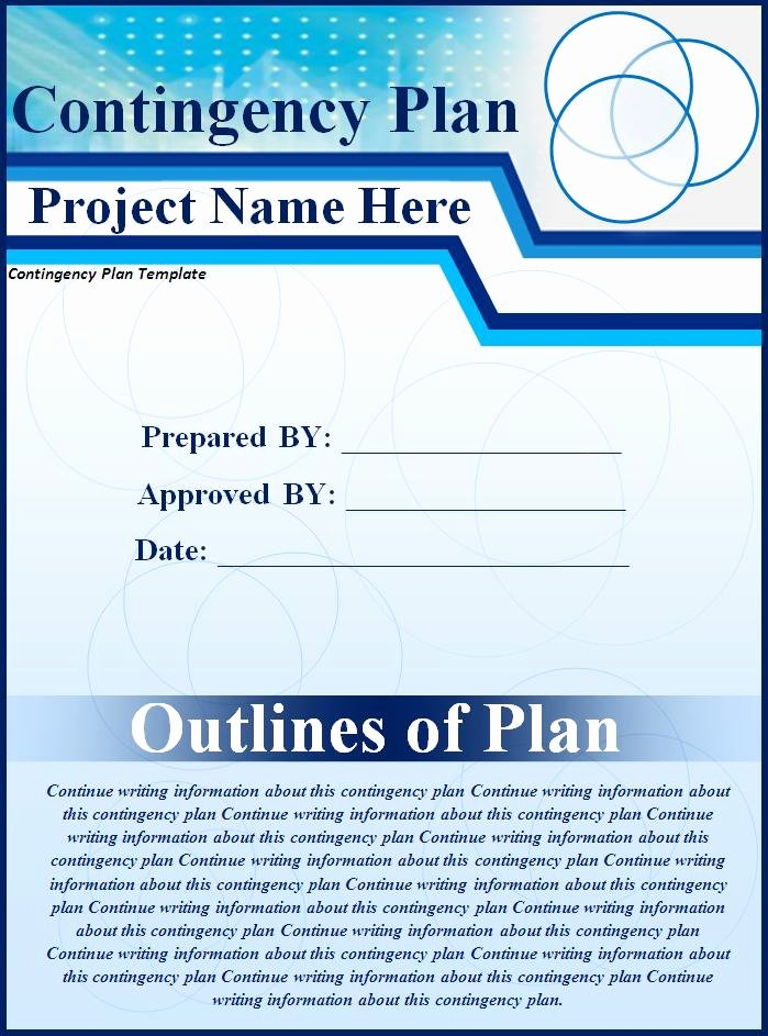 Business Contingency Plan Template Lovely Contingency Plan Template