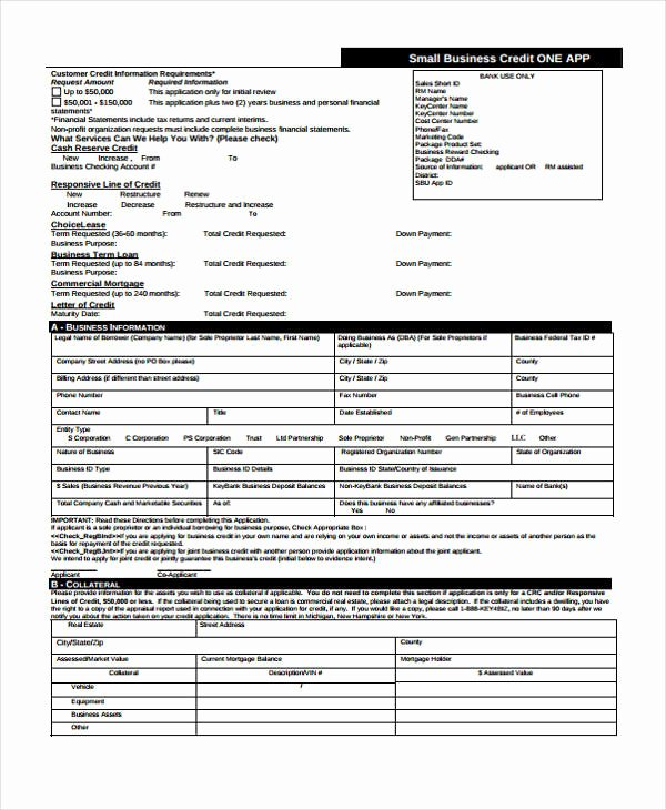 Business Credit Application Template Best Of 15 Credit Application form Templates