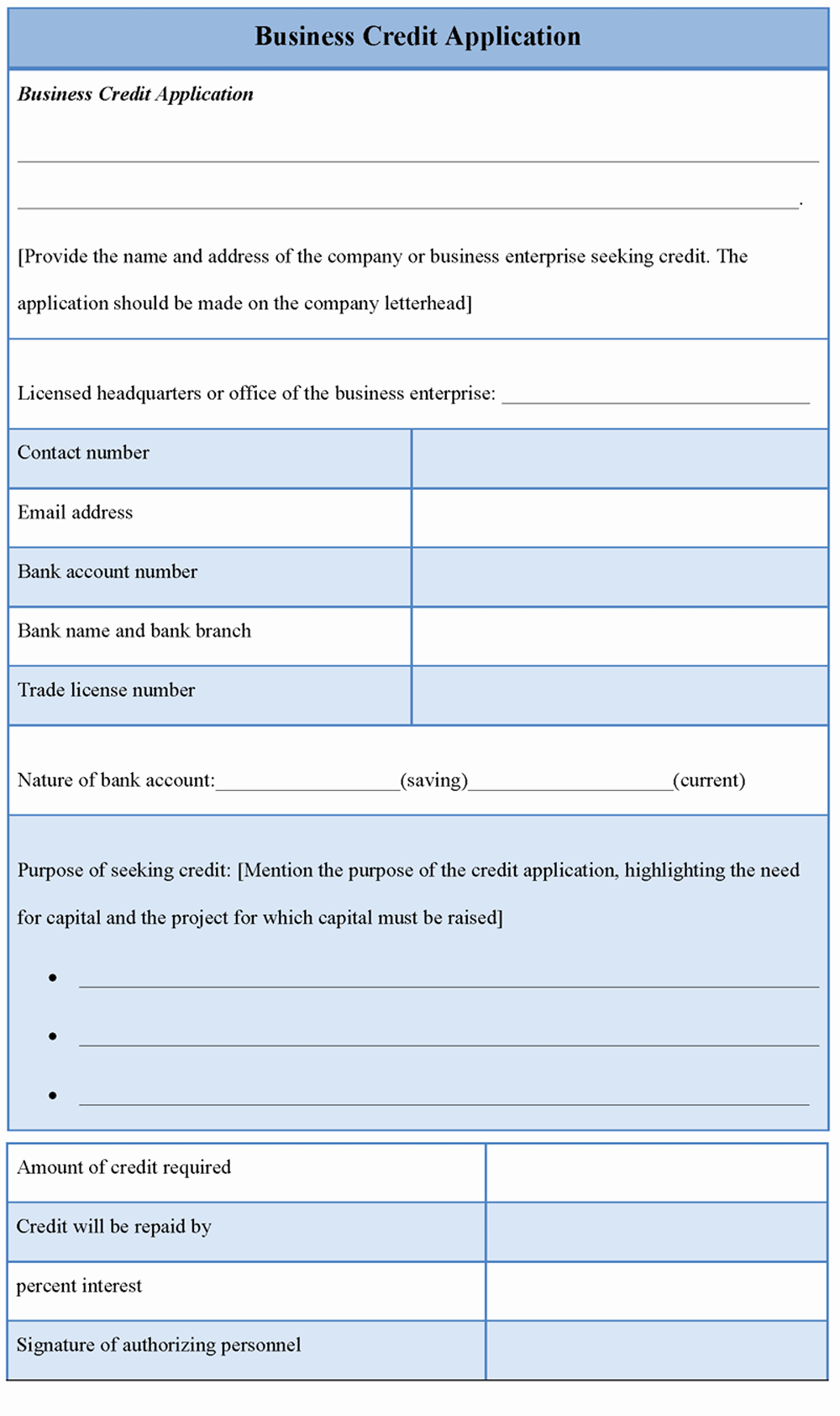 Business Credit Application Template Best Of Application Template for Business Credit Sample Of