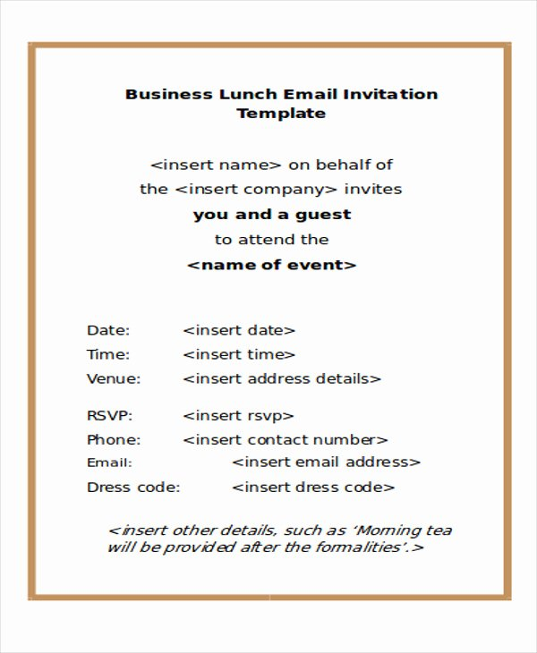 Business Dinner Invitation Template Beautiful 9 Business E Mail Invitation Templates Word Pdf Psd