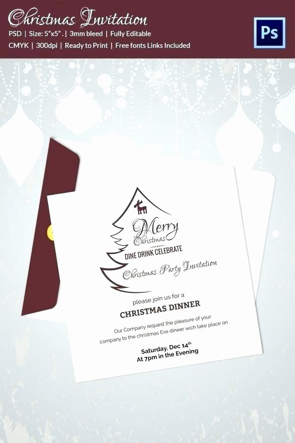 Business Dinner Invitation Template Fresh Christmas Dinner Invitation Template – First to