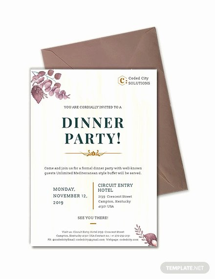 Business Dinner Invitation Template Inspirational 59 Invitation Templates Psd Ai Word Indesign