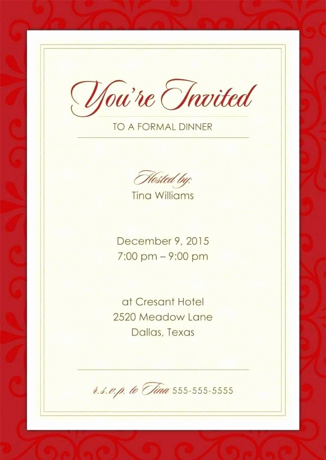 Business Dinner Invitation Template Luxury Business Dinner Invitation Email Examples