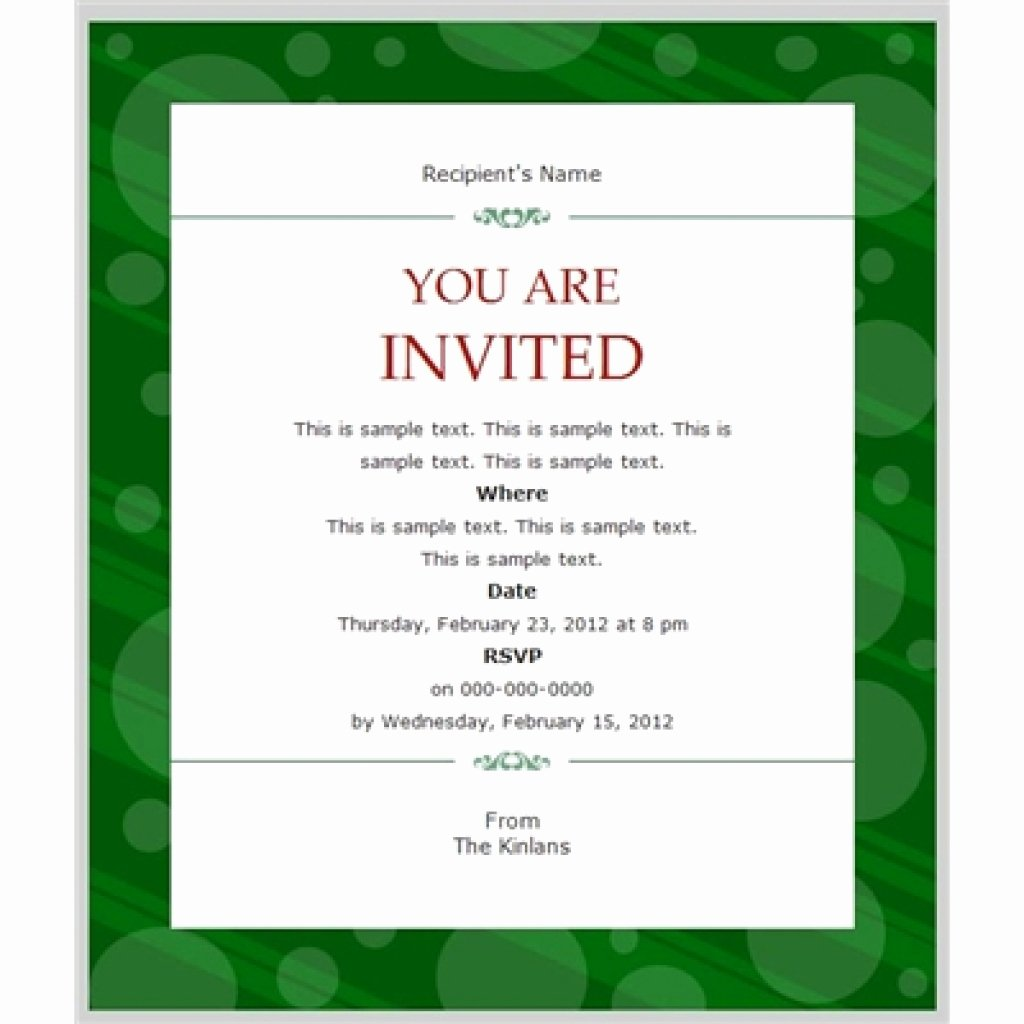 Business Dinner Invitation Template Luxury Business Invitation Templates Free