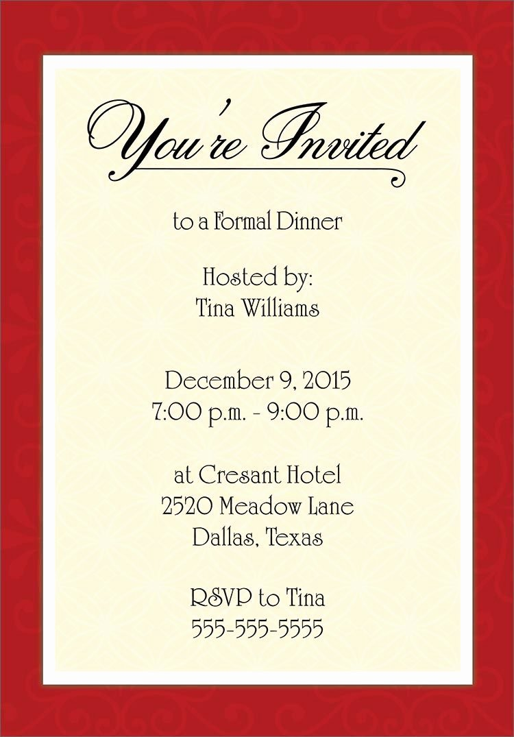 Business Dinner Invitation Template Luxury for Corporate Dinner Invitation