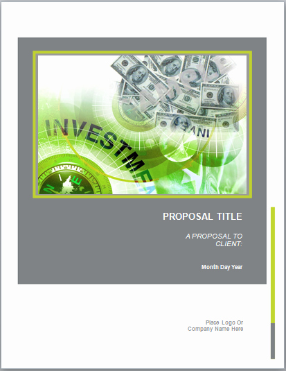 Business Investment Proposal Template Awesome Investment Proposal Template Microsoft Word Templates