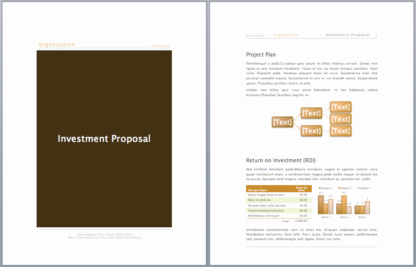 Business Investment Proposal Template New Investment Proposal Template Microsoft Fice Templates