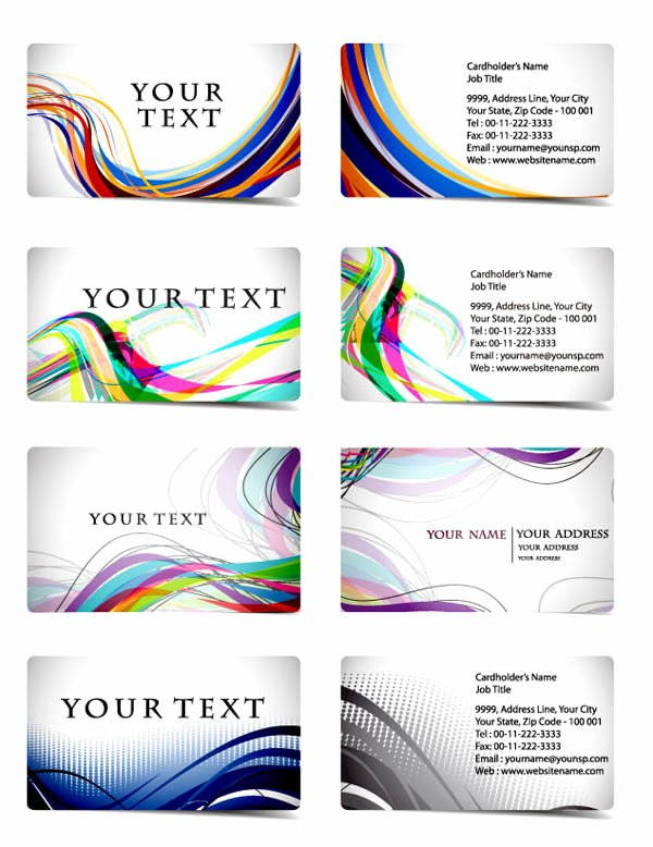 Business Line Card Template Best Of Variety Of Dynamic Flow Line Business Card Template 01