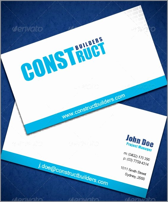 Business Line Card Template Lovely astonishing Construction Business Card Ideas Line Cards