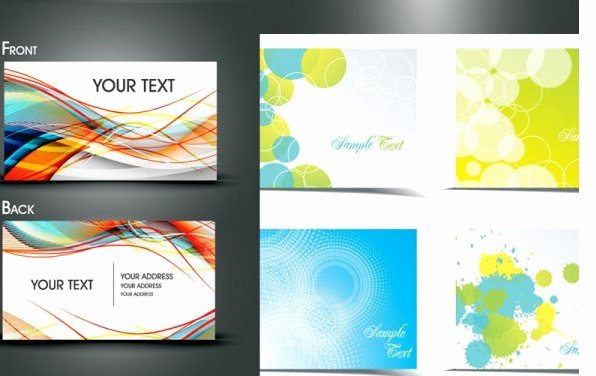 Business Line Card Template Luxury Dynamic Flow Line Business Card Template Vector Free