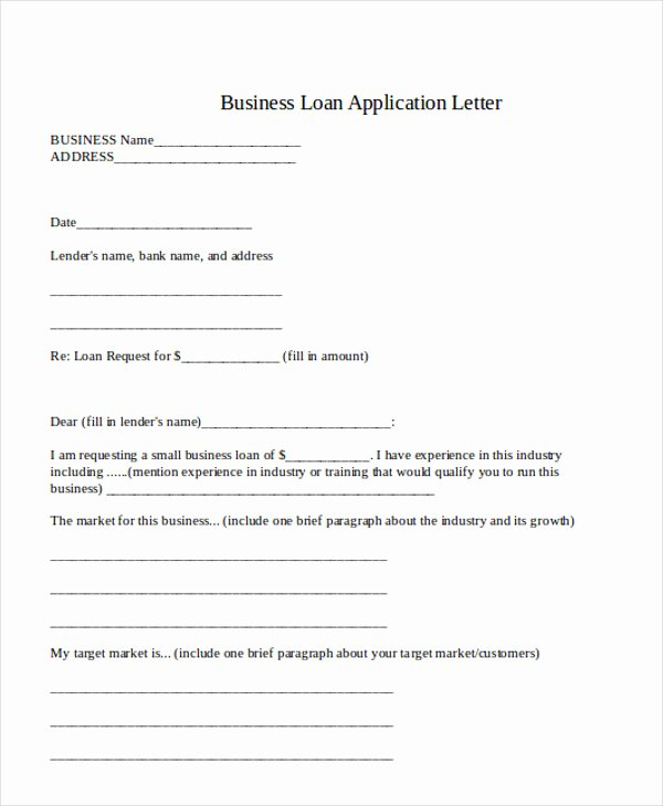 Business Loan Proposal Template Awesome 36 Application Letter Samples