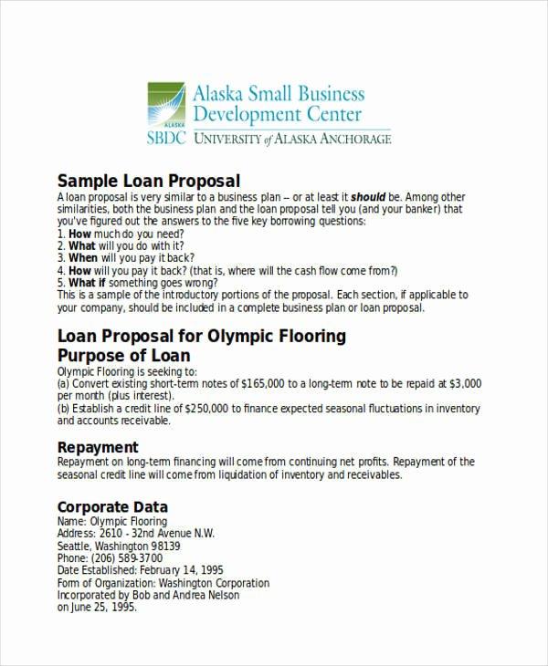 Business Loan Proposal Template Fresh 31 Business Proposal formats